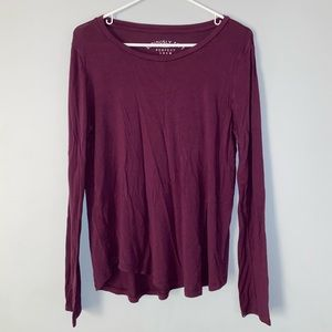 Aeropostale Maroon Seriously Soft Long Sleeve